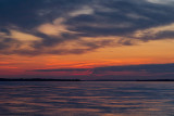 Looking down the Bay of Quinte before sunrise
