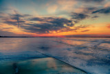 Ice on the Bay of Quinte before sunrise