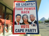 Cape Town election poster