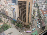 Nairobi view from hotel room