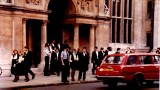 1984 Janet leaving her final exam High St Oxford