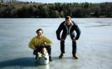 1991 Feb on frozen Lake Quonnipaug