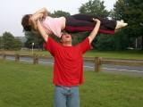 2007 Dave lifting his mom