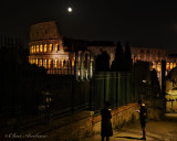 Another View of the Moon Over the Colosseum