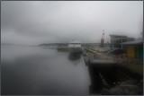 Moored at Sydney Harbor, Cape Breton Island.