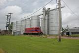 Fairmont, Nebraska Steel Grain Elevator and Bins.