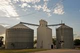 Blair, Nebraska Old Wood Grain Elevator.