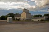 Elkhorn, Nebraska Old Wood Grain Elevator.