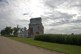 Cloverdale, Iowa Old Wood Grain Elevator.