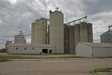 Sheldon, Iowa Concrete Grain Elevator Complex.