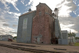 Onawa, Iowa Old Wood Grain Elevator with metal Siding.