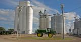 Blencoe, Iowa two concrete grain elevators.