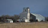 Latimer, Kansas Old Wood Grain Elevator.