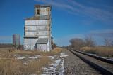 Antelope, Kansas Old Wood Grain Elevator.