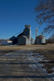 Dunlap, Kansas Old Wood Grain Elevator Complex.
