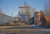 Wilsey, Kansas Old Wood Grain Elevator.