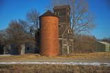 Burdick, Kansas Old Wood Grain Elevator.