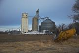 Asherville, Kansas Concrete Grain Elevator.