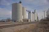 Glen Elder, Kansas Concrete Grain Elevators.