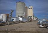 Tipton, Kansas Grain Elevators.