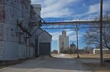 Woodston, Kansas Grain Elevators.