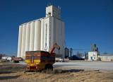 Stockton, Kansas Concrete Grain Elevator.