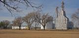 South Haven, Kansas Old Wood Grain Elevator.