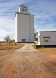 Shook, Kansas Concrete Grain Elevator.