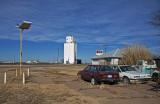 Hazelton, Kansas Concrete Grain Elevator.
