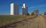 Kiowa, Kansas Concrete Grain Elevator.