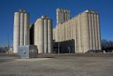 Newton, Kansas Concrete Grain Elevators.