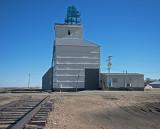 Bunker Hill, Kansas Old Wood Grain Elevator.
