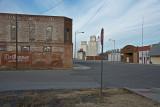 Goltry, Oklahoma Main Street Towards Grain Elevator.
