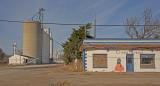 Helen, Oklahoma Concrete Grain Elevators.-North Side.
