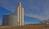 McWillie, Oklahoma Concrete Grain Elevator.