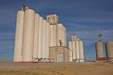 Orienta, Oklahoma Concrete Grain Elevators.