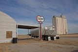 Homestead, Oklahoma Concrete Grain Elevator.