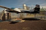 Ames, Oklahoma Concrete Grain Elevator and EX-USAF T-37 Trainer.