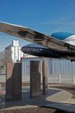 Ames, Oklahoma Concrete Grain Elevator and T-37 Trainer.