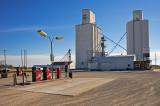 Meno, Oklahoma Concrete Grain Elevators.