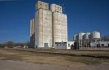 Drummond, Oklahoma Concrete Grain Elevators.