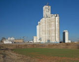 Bison, Oklahoma Concrete Grain Elevators.