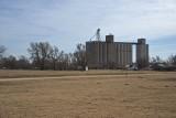 Manchester, Oklahoma Concrete Grain Elevators.