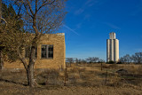 Capron, Oklahoma Concrete Grain Elevator.
