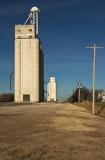 Capron, Oklahoma Concrete Grain Elevators.