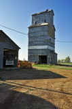 Adams, Oklahoma Old Wood Grain Elevator.