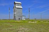 Hooker, Oklahoma Old Wood Grain Elevator.