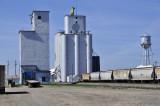 Hooker, Oklahoma Concrete Grain Elevators.