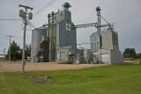 Lismore, Minnesota Wood Grain Elevator with Metal Siding.