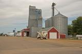Edgerton, Minnesota Wood Grain Elevator with metal siding.